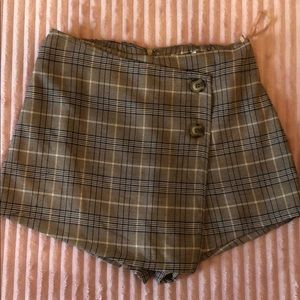 Cotton Candy LA plaid skort